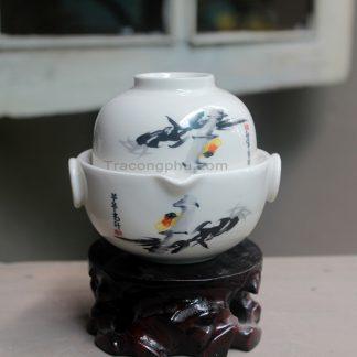 ấm sứ pha trà
