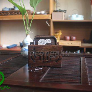 bộ đế chén gỗ cẩm